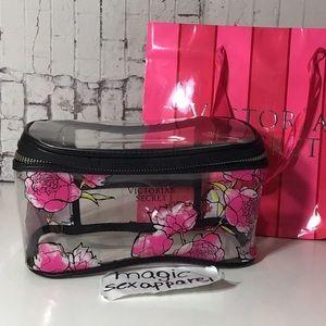 VICTORIA'S SECRET MAKEUP BAG COSMETICS CASE CLEAR